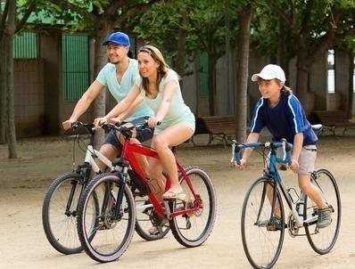 atividade física com bicicleta