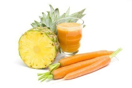 suco detox abacaxi e cenoura