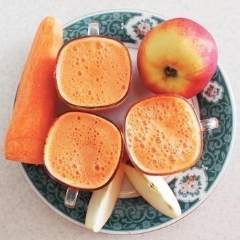 suco detox cenoura e maçã
