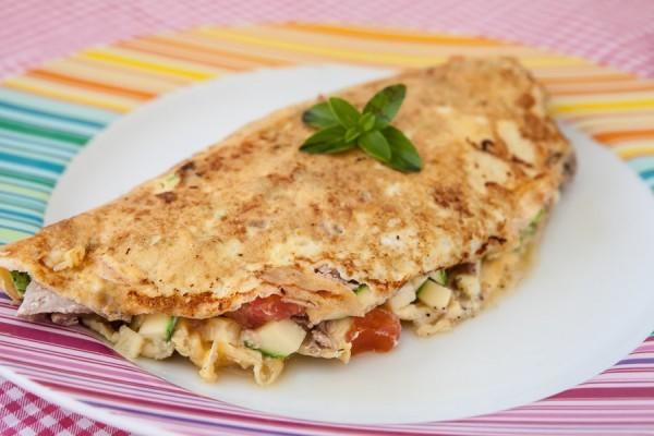 omelete com aveia