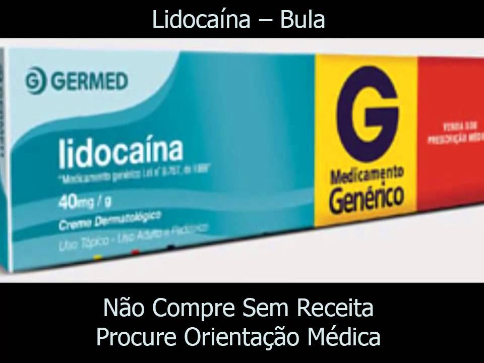 Lidocaína Bula