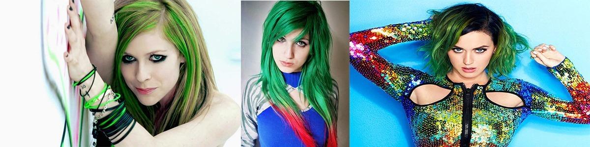 cabelo colorido nas pontas