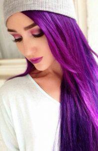 como pintar o cabelo de roxo passo a passo