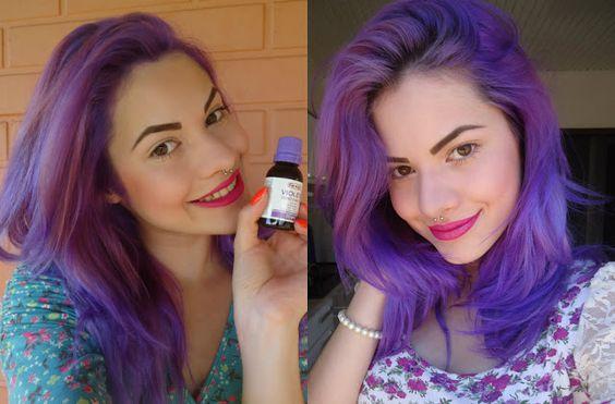 como pintar o cabelo de roxo temporariamente