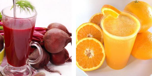 suco de beterraba com laranja para anemia