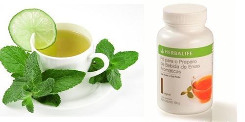 chá herbalife como preparar