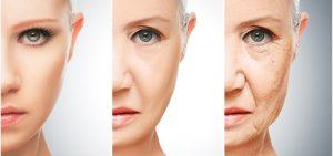 envelhecimento precoce da pele do rosto