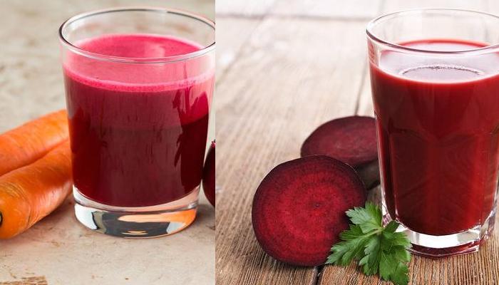 Suco rosa com vitamina C