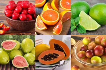 alimentos ricos em vitaminas c
