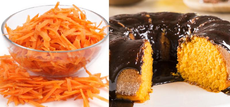bolo de cenoura tudo gostoso