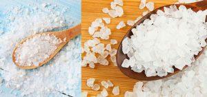 cristais de sal marinho