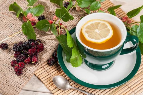Chá de Folhas de Amora
