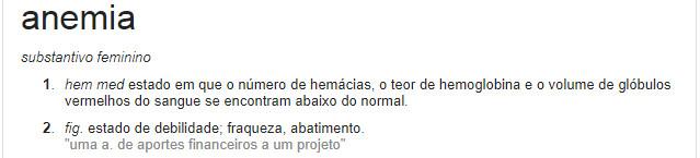 definição de anemia