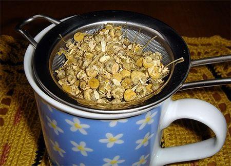 chá de camomila para bebe como fazer
