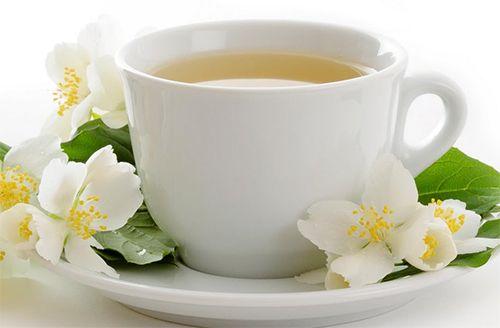 chá de rosa branca como fazer