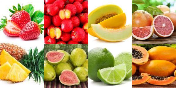 Frutas fonte de vitamina c