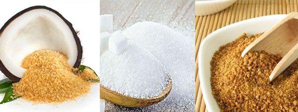 açúcar de coco e o açúcar mascavo